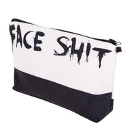 Face Shit Pro 3D Print Cosmetics Organizer Makeup Bag