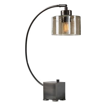 Cervino Arched Iron Desk Lamp by Uttermost