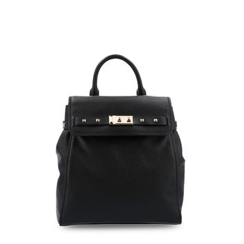 Michael Kors Black Padded Leather Backpack