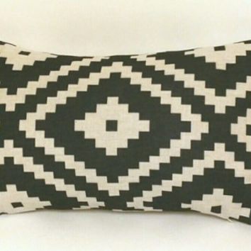 Pillow Cover, Aztec Pillow Cover, 12 x 18 Linen Pillow Cover, Tribal Pillow Cover, Throw Pillow, Toss Pillow, Sofa Pillow
