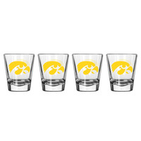 Iowa Hawkeyes Shot Glass - 2 Pack Clear