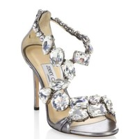 Giuseppe Zanotti - Giuseppe for Jennifer Lopez 110 Crystal-Embellished Suede Lace-Up Booties