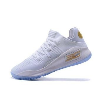 ONETOW Best Deal Under Armour UA Men's SC30 Stephen Curry 4 Low White Sport Sneaker