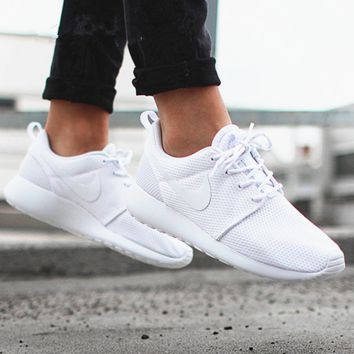 NIKE roshe Women Men Running Sport Casual Shoes Sneakers pure White