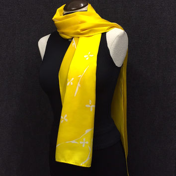 Garden of Yellow - Hand Painted Silk Scarf