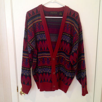 Vintage Tribal Hipster/Grunge Cardigan Sweater