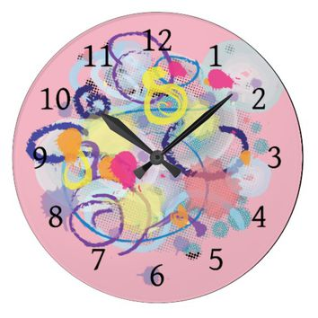 Watercolor Fantasy Large Clock