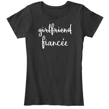 Womens Girlfriend Fiancee T Shirt Fianc