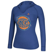 New York Knicks adidas Women's Hocus Pocus Hooded T-Shirt - Royal Blue