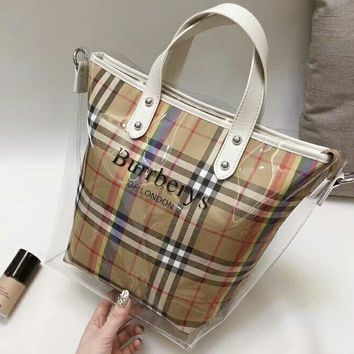 Burberry 2018 Classic Trend Plaid & Scottish Plaid Women's Favorite Bag F-AGG-CZDL