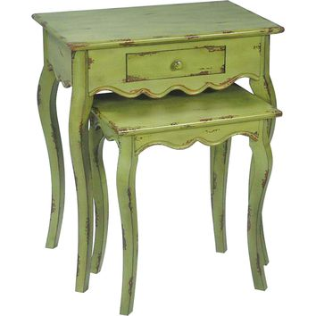 Verde Stacking Tables 1 Drawer Set of 2