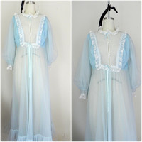 Vintage 1960s Baby Blue Nightgown