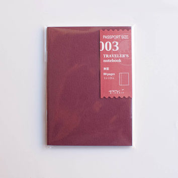 Midori Traveler's Note Passport: 003 Blank Notebook Refill