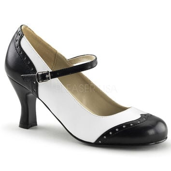 Funtasma Black and White Flapper Pumps