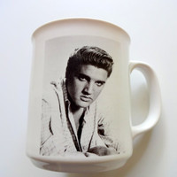 Vintage Elvis Coffee Mug 1990