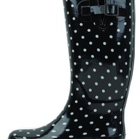 SunVille Women's Ditsy Dots Rubber Rainboot and GardenBoot,9 B(M) US,DITSY DOTS COLOR