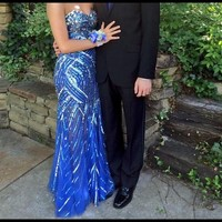 Gorgeous Royal Blue Jovani Prom Dress 💃