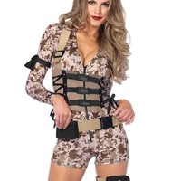4pc. Battlefield Babe Romper Costume