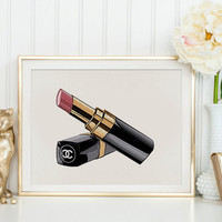 CHANEL LIPSTICK,Makeup Print,Fashion Print,Birthday Gift,Gift For Her,Gift For Girlfriend,Makeup Art,Coco Chanel Lipstick Special Edition