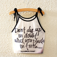Summer Quotes Pattern Print Midriff Crop Tops Sleeveless Casual Vest = 4765268804