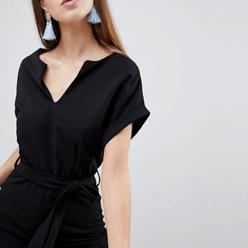 Boohoo Tailored Wide Leg Jumpsuit at asos.com