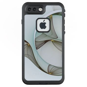 Abstract Modern Turquoise Brown Gold Elegance LifeProof® FRĒ® iPhone 7 Plus Case
