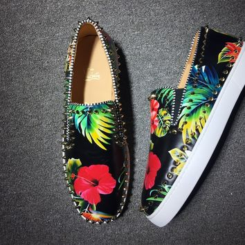 KUYOU Christian Louboutin low tops CL fashion casual shoes red sole for men and women sneakers 90521