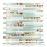 Free Shipping Peel and Stick Backsplash 10.5in x 10in Mosaic Tile Bathroom Kitchen Removable 3D Tile,Pack of 4