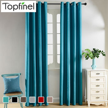 Top Finel Solid Blackout Curtains for Living Room Bedroom Velvet Fabrics for Curtains Window Treatments Cortinas Drapes Children