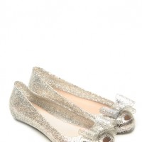 Glaze Silver Delilah Bow Glitter Jelly Flats @ Cicihot Flats Shoes online store:Women's Casual Flats,Sexy Flats,Black Flats,White Flats,Women's Casual Shoes,Summer Shoes,Discount Flats,Cheap Flats,Spring Shoes