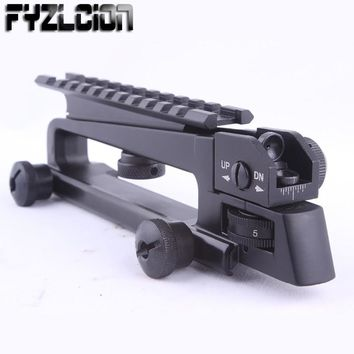 High Quality Detachable Carry Handle W/ Dual Aperture A2 Rear Sight See Through Picatinny Rail Mount Combo M4 M16 AR15
