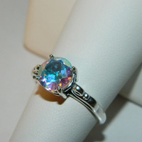 Amazing mercury mist topaz ring