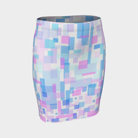 zappwaits watercolor k2 Fitted Skirt