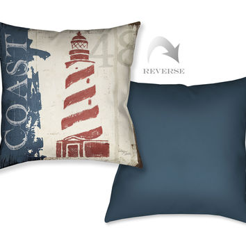 Nautical V Indoor Decorative Pillow