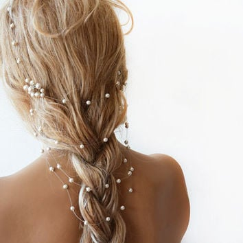 Wedding Pearl  headband, Pearl Bridal Hair, Wedding Hair Accessories, Pearl Headband, Pearl Wedding, Bridal Hair Accessory