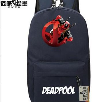 Student Backpack Children Marvel Comic Deadpool Backpack Students Superhero Backpack women Travel Bag men shoulder bag Teenage Girl Backpack boy schoolbag AT_49_3