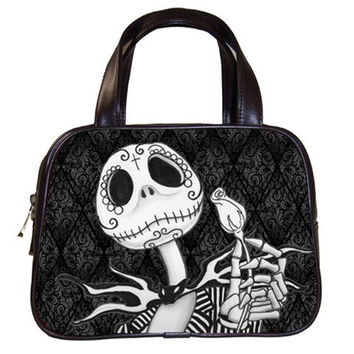 Jack Skellington inspired Sugar Skull Hand Bag