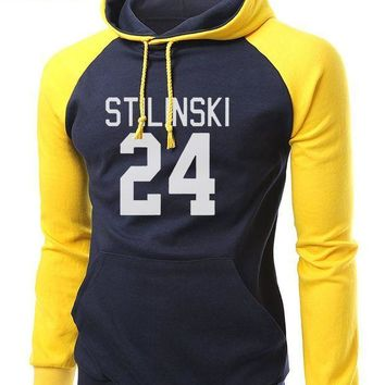 PEAP78W Hot Sale TV Show Teen Wolf Stilinski 24 Brand Hoodies Men 2017 Autumn Winter Fleece Hooded Slim Fit Sweatshirt Men Raglan Hoodie