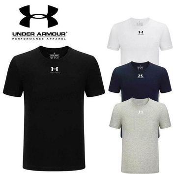 PEAP2Q new under armour mens shirt sleeve t shirt 100 cotton top-1
