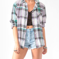 Madras Print Flannel Shirt | FOREVER21 - 2000048960
