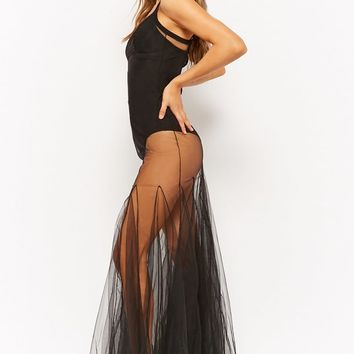 Kikikiriki Sheer Tulle Maxi Dress