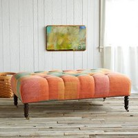 PARVATI UPHOLSTED OTTOMAN         -                One of a Kind         -                Furniture & Decor                       | Robert Redford's Sundance Catalog
