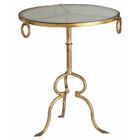 Arteriors Home Raul Gold Iron/Glass Side Table - Arteriors Home 6634