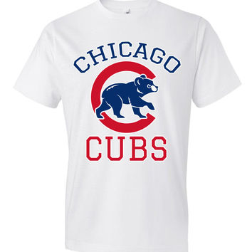 Chicago cubs World series Anvil Fashion T-Shirt