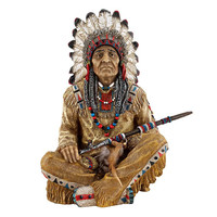 Park Avenue Collection Noble Feathers Native American Statue