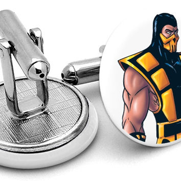 Mortal Kombat Scorpion Cufflinks