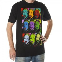 Einstein Picture Panel Mens Black Tee