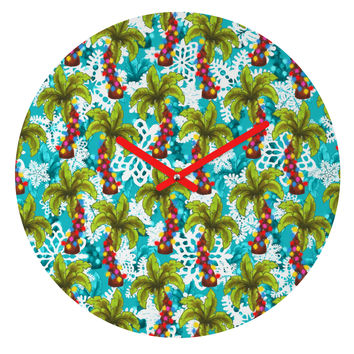 Aimee St Hill Tropical Christmas Round Clock