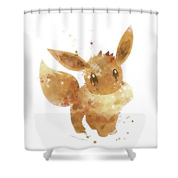 Pokemon Eevee Shower Curtain