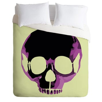 Amy Smith Pink Skull 1 Duvet Cover